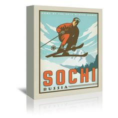 East Urban Home Sochi Vintage Advertisement on Wrapped Canvas Size: