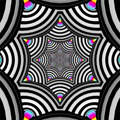 "crossconnectmag: "" Hexeosis: Trippy Pattern Movement At one time the very popular gif artist who is know as Hexeosis was a Creative Director for a respected Motion Graphics firm making TV Commercials. Optical Illusions Pictures, Optical Illusion Gif, Trippy Pictures, Illusion Pictures, Art Optical, Trippy Patterns, Psychedelic Pattern, Psychedelic Art, Doodle Patterns"