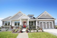 Like the craftsman style, the peaks, the paint colors. The… EXTERIOR example. Like the craftsman style, the peaks, the paint colors. Craftsman Exterior Colors, Craftsman Style Homes, Exterior Doors, Craftsman Houses, Craftsman Decor, Gray Exterior, Exterior Stairs, Best Exterior Paint, Exterior Paint Colors For House