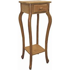 @Overstock.com - Wood Oak Plant Stand - This living room piece can be used as a plant stand or telephone table. A warm oak finish completes the look of the plant stand.  http://www.overstock.com/Home-Garden/Wood-Oak-Plant-Stand/5126353/product.html?CID=214117 $50.59