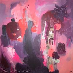 Painting with pretty colors by Marguerite Krawczyk.