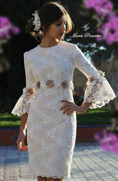 Prom Dresses Beautiful, Pink lace high low prom dress, homecoming dress in 2019 Dress Outfits, Fashion Dresses, Dress Up, Party Outfits, Hijab Outfit, Dress Lace, Lovely Dresses, Vintage Dresses, Lace Dress Styles