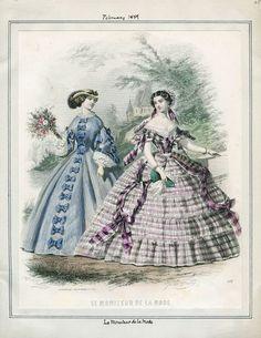 cimetiere-chanson:  Le Moniteur de la Mode; February 1, 1859