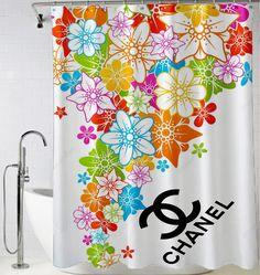 Chanel Flower logo abstrac Shower Curtain