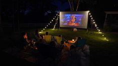 Outdoor Ideas with your kids...movie night! Movie Night For Kids, Cedar Shutters, Outdoor Movie Nights, Cottage Style Homes, Rain Drops, Porch Swing, Outdoor Living, How To Memorize Things, Blessed