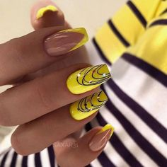 DIY nail art at home and DIY manicure make nail care easy for you. Pick simple at-home nail designs and tutorials for a manicure at home from the best roundup. Acrylic Nail Art, Nail Art Diy, Acrylic Nail Designs, Cool Nail Art, Diy Nails, Cute Nails, Pretty Nails, Neon Nails, Spring Nails
