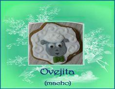 Galleta ovejita macho. http://ljardindelasdelicias.blogspot.com.es/2013/10/galletas.html