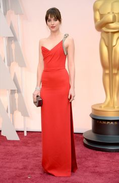 The 2015 Academy Awards: All the Pictures From the Red Carpet Dakota Johnson in Saint Laurent