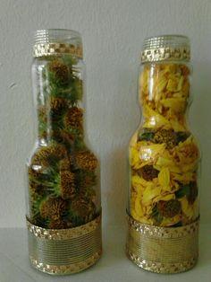 Fall Wildflower recycling (Kroger Stir-Fry & Spring Roll Sauce bottles)