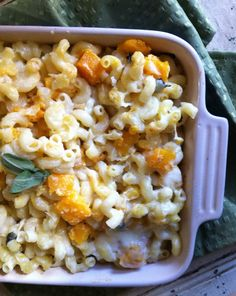 Roasted Butternut Squash and Sage Mac & Cheese - easy to make GF