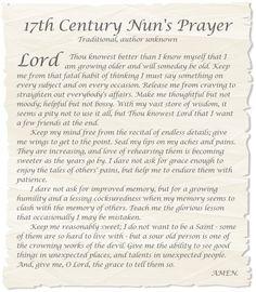 17th century nun's prayer - Yahoo Search Results