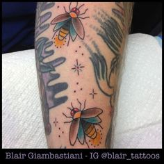 What does firefly tattoo mean? We have firefly tattoo ideas, designs, symbolism and we explain the meaning behind the tattoo. Tattoos For Kids, Trendy Tattoos, Cool Tattoos, Bug Tattoo, Insect Tattoo, Tattoo Art, Shape Tattoo, Tattoo Outline, Tattoo Sleeve Filler