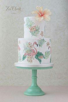 Havana style with hibiscus cake