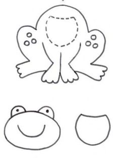 Pattern for cute frog Wal Artesanal o site do feltro