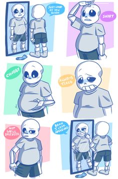The way sans was drawn in this is so cute that I might adjust my style for him a little bit using this as a reference~ =]