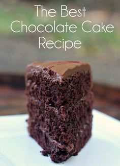 The Best Chocolate Cake Recipe. Three Layer Chocolate Cake | Chocolate Sour Cream Cake | Chocolate Frosting | Chocolate Sour Cream Frosting