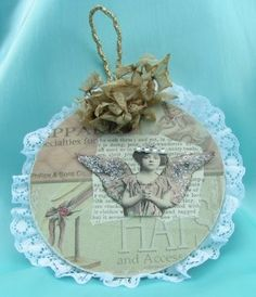 Shabby, vintage look altered CD