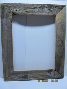 Barn Board Picture Frame for the around the poster guestbook.