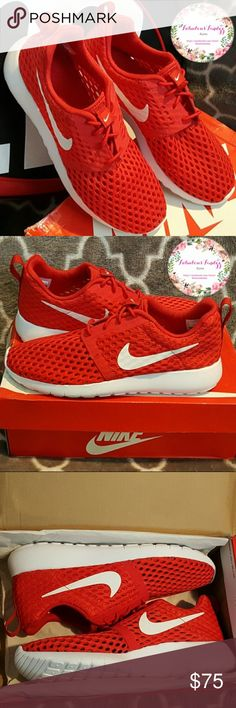 free shipping 01eff ada8a Nike Roshe One Flight Weight (GS) Red White ❤ CLEAR OUT SALE