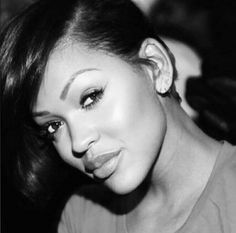 girls, famous and meagan good image on We Heart It Ethnic Hairstyles, Cute Hairstyles, Relaxed Hairstyles, Celebrity Hairstyles, Megan Good, Natural Hair Styles, Short Hair Styles, African American Makeup, Short Sassy Hair