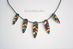 Feathers necklace   Indian feathers jewelry  by lacravatteduchien, €20.00