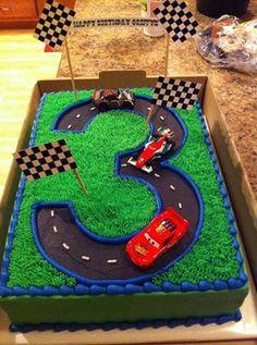 3rd Birthday cake race car track Party Pinterest Birthday
