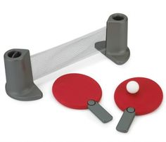 He'll be up to Forrest Gump's level in no time! | Portable Table Tennis Set | $39.95 | UncommonGoods