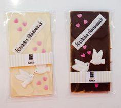 """Hochzeits-Schokolade """"Glückwünsche zur Hochzeit"""""""