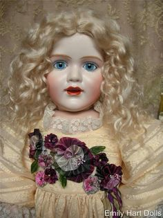 Kestner 241 child... doll, costume and ribbon flowers by Emily Hart