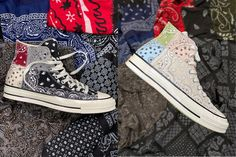Offspring Wraps Converse Chuck 70 in Patchwork Paisley Pattern #daily #news #hypebeast #mux #muxjasper #fivedoubleues Sneakers Fashion, Sneakers Nike, High Top Sneakers, Cute Casual Outfits, Casual Shoes, Cute Shoes, Me Too Shoes, Converse Style, Converse Chuck
