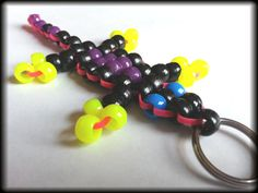 Lizards of Love  Black with Neon Pink Purple by WeirdlyItsMe, $4.25