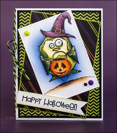 Awash with Color: Memento-Versafine Crazy Birds Halloween Card.  (Pin#1: Halloween: Witches. Pin+: Crazies:  Birds,...).
