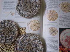 Cestería en papel de periódico (cestería china)