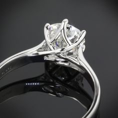 A gemstone solitaire may be the essential diamond engagement ring. Although other diamond engagement ring settings fall and rise in recognition, a solitaire ring is really a classic with constant, … Engagement Solitaire, Diamond Solitaire Rings, Vintage Engagement Rings, Solitaire Setting, Vintage Rings, Wedding Ring Bands, Wedding Jewelry, Ring Verlobung, Ring Cake