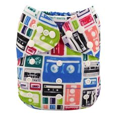 Alva Baby New Design Reuseable Washable Pocket Cloth Diaper Nappy + 2 Inserts - Tapes