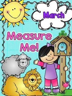 Measurement center:  with St. Patrick's Day and Spring pictures to measure.  Two recording sheets are included.  paid