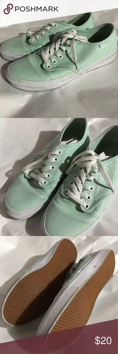 Vans Size 8 Mint brocade sneakers Worn twice with socks. Cute shoes but they don't match my closet as much as I thought they would. Vans Shoes Sneakers