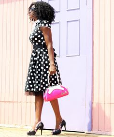 The Fashion Stir Fry: LADYLIKE IN POLKA DOT DRESS