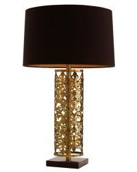 Antique Brass/Black Marble Lamp  $440