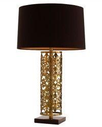 Antique Brass/Black Marble Lamp  $440