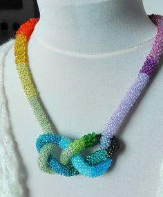 Multicolor, Unregullar, Neckle/Bracelet, Multifunctional Beauty, Beaded, Rope, Peyote, Biser by IMAGINARIUM2015 on Etsy