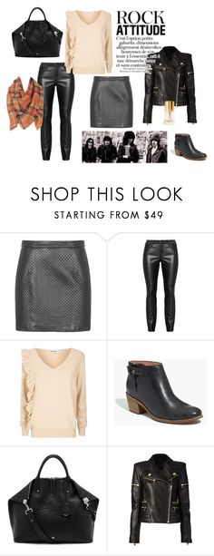"""Ladylike rock'n'roll"" by latediscovery ❤ liked on Polyvore featuring Topshop, Elizabeth and James, Madewell, Mulberry, Balmain, BP. and Laura Biagiotti"