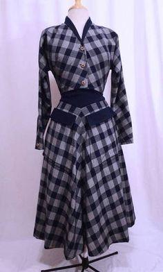 Vintage 40s Claire McCardell Chevron Plaid Wide Waistband Skirt Crop Blazer  Suit   eBay Cropped Blazer 1d2449069ff7