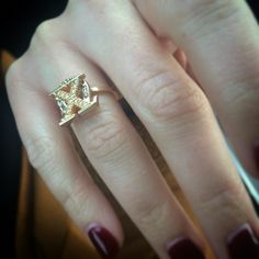Chi Omega Pin (Badge) laser welded to simple gold band to make ring