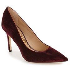 """Something on your mind? Chat about it here.  Velvet, as we've noted before, is huge this season. I think it canbe a bit much for work--but this Sam Edelman pumplooks gorgeous forholiday parties. Ilove the sangria velvet, and it's afun way to get a pop of color. This shoe, which is $119 at Nordstrom(where it's getting good reviews), has a 3.75"""" heel. It comes in manyother colorsincluding severalsuede versions, a snake print and an ikat print, and your basic black (in both suede…"""