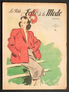 'ECHO DE LA MODE' FRENCH VINTAGE NEWSPAPER 10 AUGUST 1947 | eBay