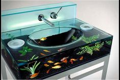 want this sink to go with my fish tank wall that i will have one day...