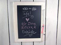Pinnwände - Kreidetafel Tafel Memoboard Wandtafel Shabby Chic  - ein Designerstück von DesignArbyte bei DaWanda