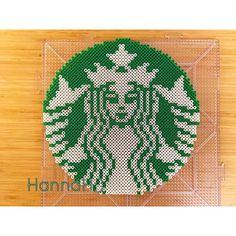 Starbucks logo perler beads by Hannah:)