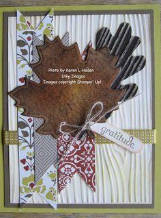 Fall Embossed Leaf Card